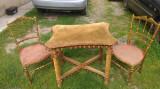 Masă veche cu 2 scaune Ludovic perioadă 1900