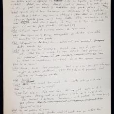 """Manuscris Horia Lovinescu, """"Cain si Abel"""" - 1968"""
