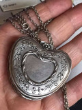 Lant cu pandantiv inima -caseta-argint