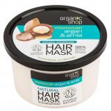 Cumpara ieftin Masca hranitoare pentru par cu Argan Pur Marcoan si Coacaze Indiene, Organic Shop Hair Mask, Ingrediente 98% Naturale, 250 ml