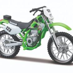 Motocicleta Maisto Kawasaki de teren, 1:18