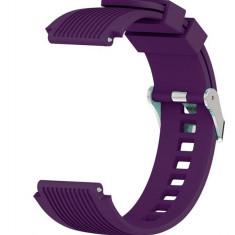 Curea ceas Smartwatch Samsung Gear S2, iUni 20 mm Silicon Sport Purple