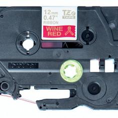 Ribbon tape Brother TZE-RW34 12 mm pentru imprimante P-touch TZ / TZe Gold / Wine Red