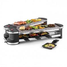 Klarstein Klarstein Tenderloin 50/50 raclette grill 1200W 8 persoane 2 x Piatra naturala grătar tablelor plate