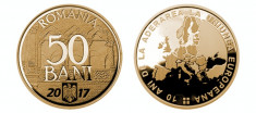 SV * Romania  BNR  50 BANI 2017 * 10 ANI de la ADERAREA la UE     UNC  din fasic foto