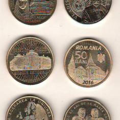 SV * Romania BNR 8 x 50 BANI 2012 - 2014 - 2015 - 2016 - 2017 - 2018 - 2019  UNC