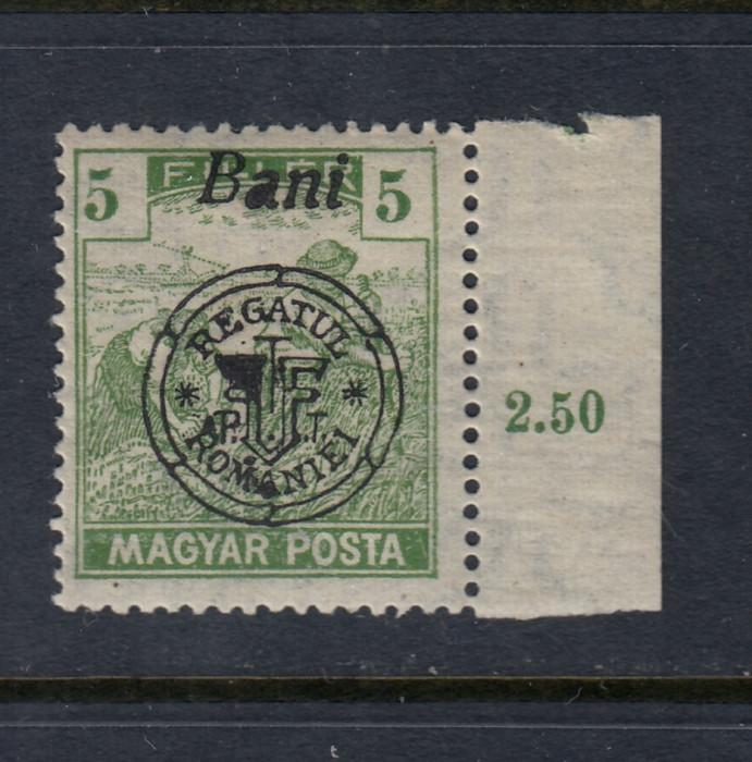 ROMANIA 1919 - CLUJ ORADEA SECERATORI EROARE MONOGRAM MNH BODOR
