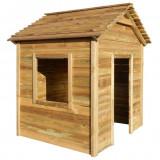 Cumpara ieftin Casă de joacă în aer liber, 123x120x146 cm, lemn de pin FSC