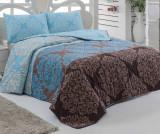 Set cuvertura matlasata Double Minerva Turquoise