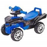 Vehicul Ride-On Mini Raptor 2 in 1 cu Sunete si Lumini Albastra, Toyz