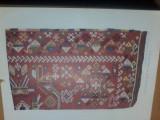 Plansa Covor din lana si bumbac, Brancovici, Arta romaneasca din Banat