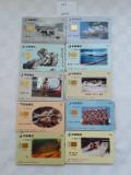 = LOT 453 - TAIWAN - 10 CARTELE TELEFONICE DIFERITE =