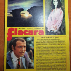 flacara 20 aprilie 1974-interviu liviu ciulei,cenaclul flacara,gil dobrica