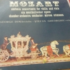 DISC VINIL  MOZART SINFONIA CONCERTANTE FOR VIOLIN AND VIOLA EIN MUSIKALISCHER