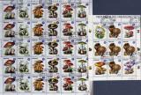 PARAGUAY- Ciuperci-2 Coli(5 serii).OBLITERATE - WS 166, Arta, Asia