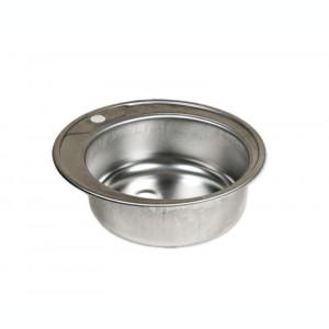 Chiuveta rotunda inox anticalcar pentru blat ZLN-6300