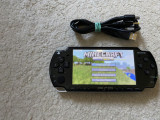 Playstation PSP SLIM modat+card cu jocuri Minecraft,NFS,GodOfWar+cablu incarcare