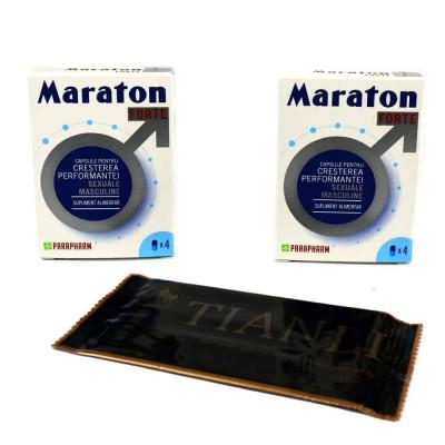 PACHET Maraton Forte 8 cps + Tianli servetele Umede 10 buc foto