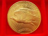 "MONEDA AUR  20 Dollars ""Saint-Gaudens - Double Eagle""  1924, America Centrala si de Sud"