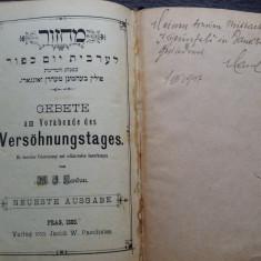 CARTE RELIGIOASA VECHE - BILINGVA - EBRAICA SI GERMANA - PRAGA 1885