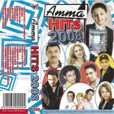 Caseta Amma Hits 2008 , originala, holograma, colaj manele