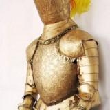 Armura De Rege Medieval, sec al XV-lea - Piesa Decorativa De Lux, Gladiotor