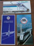 Set 3 brosuri promotionale Euro Tunnel & Shuttle, pentru colectionari