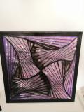 Tablou abstract 3D Zentangle, Nonfigurativ, Acrilic