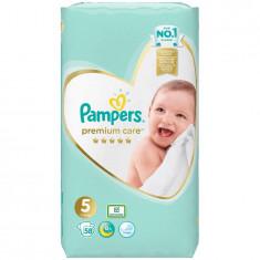 Scutece Pampers Premium Care 5 Jumbo Pack, 58 bucati