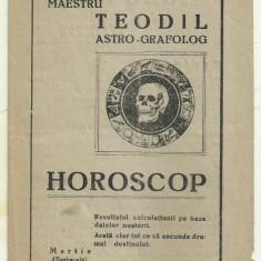 Reclama MAESTRUL  TEODIL ASTRO-GRAFOLOG - anii 1930
