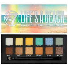 Paleta Cu 12 Farduri W7 Life s A Beach Metallic Beach Shimmers 9.6 gr