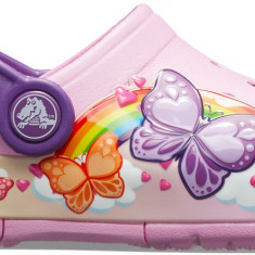 Saboți Fete casual Crocs Crocs Fun Lab Butterfly Band Lights Clog, 22.5, 24.5, 25.5, Roz
