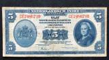 India Olandeza 5 guldeni 1943