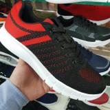 Pantofi sport Bunosi negri cu rosu -rl