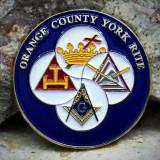 Cumpara ieftin PIN rotund cu 4 simboluri masonice - Ritul York- PIN096