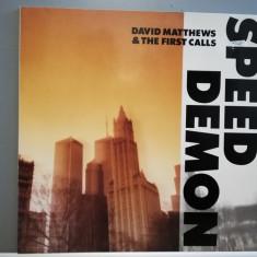 David Matthews Trio (Dave Weckl) – Speed Demon (1985/King/RFG) - Jazz/Vinil/M, emi records