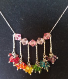 "Colier unicat lant argint 925 si Swarovski ""I'm over the rainbow"""