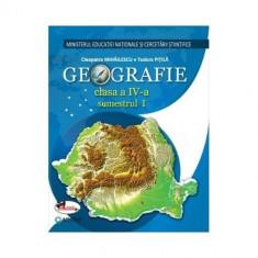 Geografie. Manual pentru clasa a IV-a (sem I+sem II, contine editie digitala) - Cleopatra Mihailescu, Tudora Pitila