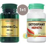 Coenzima Q10 30cps Premium + Detoxifiant Hepatic 30cps Pachet 1+1