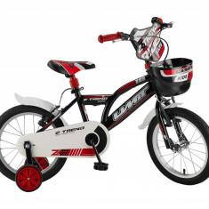 """Bicicleta Copii Umit Z.Trend , Culoare Negru/Rosu Roata 16"""" OtelPB Cod:1602000000"""