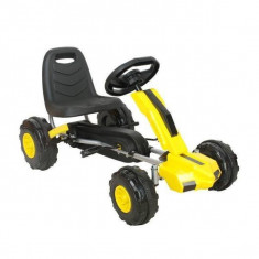 Kart cu pedale model A Piccolino - Galben