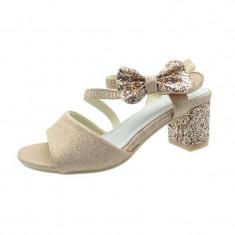 Sandale elegante cu toc fetite MRS M1505R, Roz