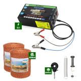 Pachet Gard electric Nexon pentru animale 3,1J putere plus 2000m de fir 90kg