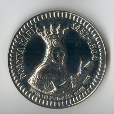 Doamna MARIA sotia lui Stefan cel Mare  & Manastirea VORONET - Medalie SUPERBA