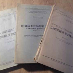ISTORIA LITERATURII ITALIENE ILUMINISMUL SI ROMANTISMUL VOL.1-3 - NINA FACON