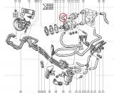 Furtun combustibil Renault R21 R19, cot conducata , original Renault 7700740974