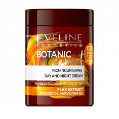 Crema de fata, Eveline Cosmetics, Botanic Expert, hranitoare, cu extract de in, 100 ml