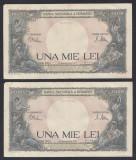 A5761 1000 lei 1941 2 Serii Consecutive