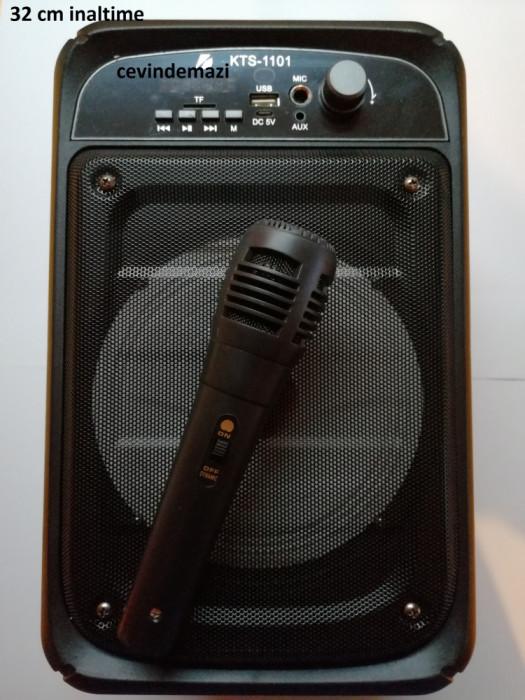 Boxa portabila Bluetooth KTS-1101 Karaoke, telecomanda + microfon
