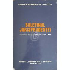 Buletinul jurisprudentei, culegere de decizii pe anul 1993